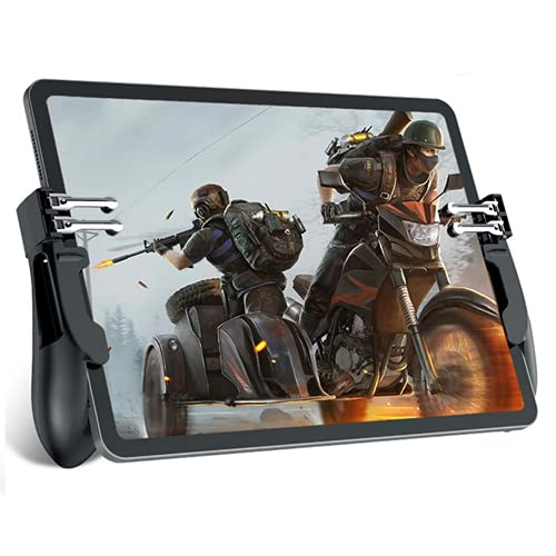 PUBG Controller for Tablet, Aovon 4 Triggers 6 Finger Operation Sensitive Shoot Aim Trigger Gamepad...