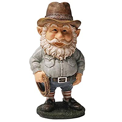 Nature's Rhythm White Beard Garden Gnome Garden Decor Interesting Resin Dwarf Statues Outdoor Patio Lawn Yard Decoration