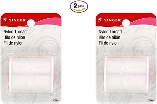 SINGER Clear Invisible Nylon Thread, 135-Yard (2 pack)