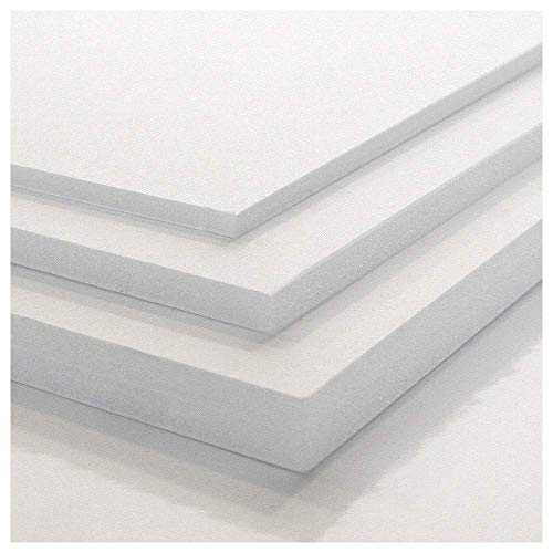 Tres Unidades Cartón Pluma Precision Blanco (3-5 y 10 mm) -Diferentes Medidas (5 mm (70x100))
