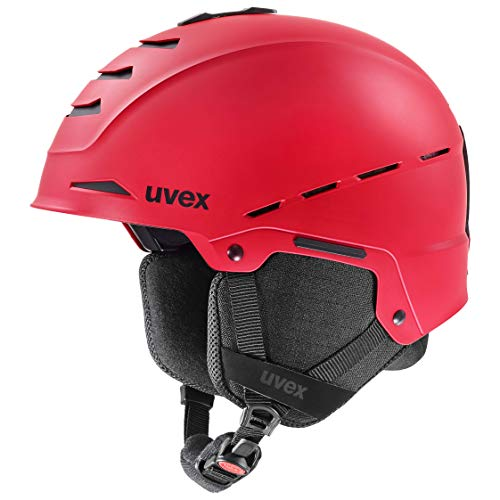 Uvex Unisex – Volwassenen Legend Skihelm, rood mat, 59-62 cm