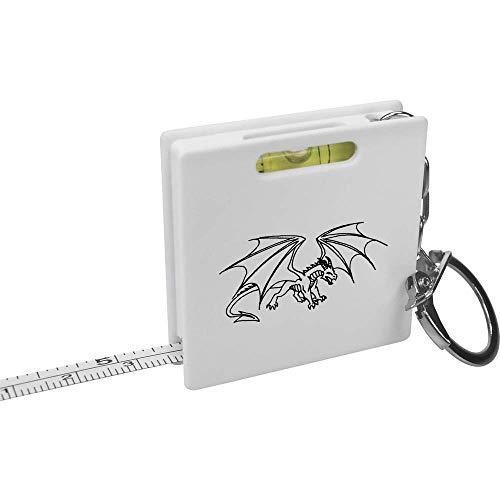 Azeeda 'Wütender Drache' Schlüsselring-Maßband / Wasserwaage (KM00004643)