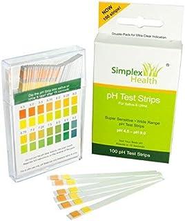 Simplex Salud Ph Tiras Reactivas para Orina y Saliva (100 Tiras)