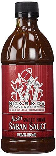 Nick Saban BBQ Sauce - Nicks Sweet Home Saban Sauce 16oz Bottle (1-Pack)