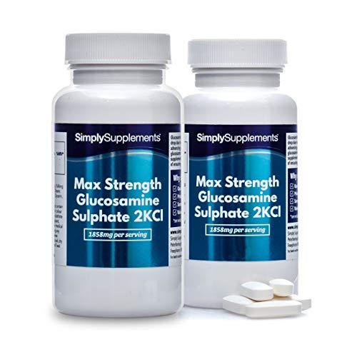 Sulfate de Glucosamine 2KCI Extra Forte   360 Comprimés   Jusqu'à 6 mois de bienfaits  SimplySupplements