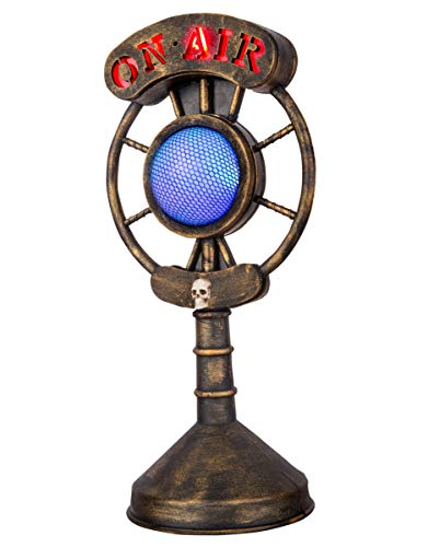 Griezelige Oude Microfoon Met Geluid