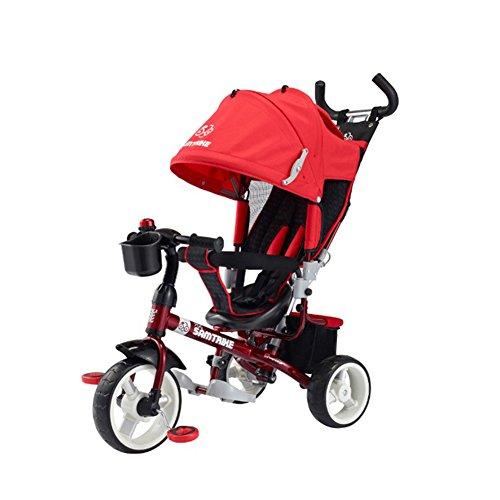 samchulli samtrike 700 de vélo pour enfant tridke Tricycle enfant bébé Jouet pour vélo avec housse Pluie, vent Exclusif rouge Rouge