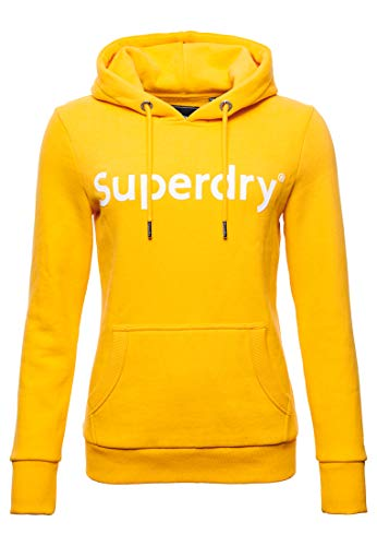 Superdry Damen Registered Flock Hoodie Sportlich Ocker 42