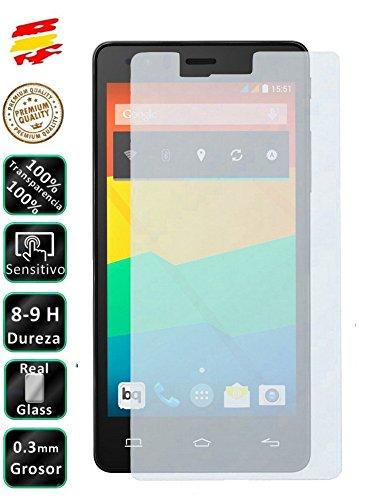 Movilrey Protector para BQ Aquaris E6 E6.0 6 Cristal Templado de Pantalla Vidrio 9H para movil