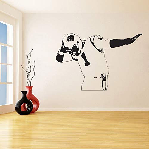 Carolina Panthers Newton Wandaufkleber für Wohnzimmer Wohnkultur Vinyl Aufkleber Süße Kinderzimmer Schlafzimmer Wandbilder 57 * 86 cm