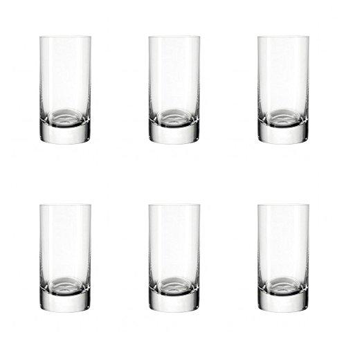 Leonardo Easy+ Schnaps-Gläser, 6er Set, spülmaschinenfeste Shot-Gläser, Schnaps-Becher aus Glas, Stamper, Gläser-Set, 5 cl, 50 ml, 039615