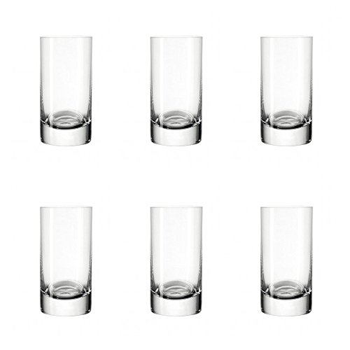 Leonardo Easy+ Stamper, 6-er Set, 50 ml, spülmaschinenfest, Teqton-Kristallglas, 039615