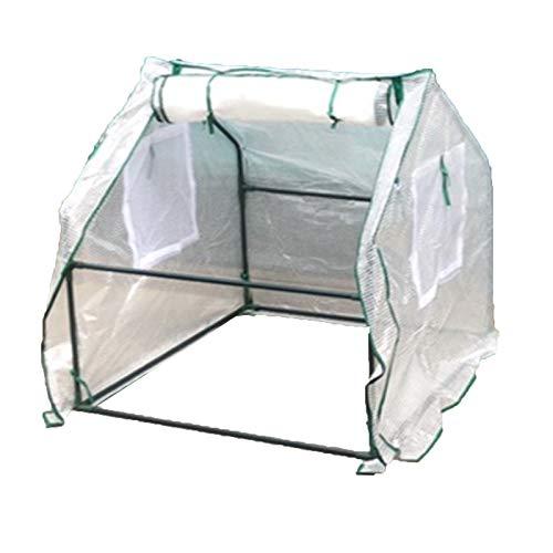 Serre Jardin,Anti-UV With Zipper Miniature Take It With You Mini Greenhouse Patio Moisture-proof Keep Warm (Color : White, Size : 90x90x90cm)