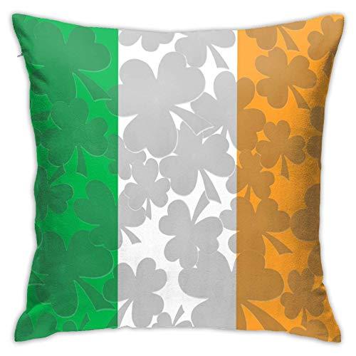 MZZhuBao Jpg - Cojín decorativo con diseño de bandera irlandesa para niños, 45,7 x 45,7 cm, para dormitorio, sala de estar, comedor, ventana de la bahía, balcón, coche