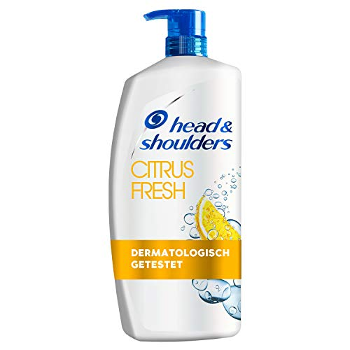Head & Shoulders XXL Citrus Fresh Anti Schuppen Shampoo 900 ml, Gegen Fettiges Haar, Pumpspender, Shampoo gegen Schuppen, Juckreiz und Trockene Kopfhaut, mit Langanhaltendem Zitrusduft, XXL Shampoo