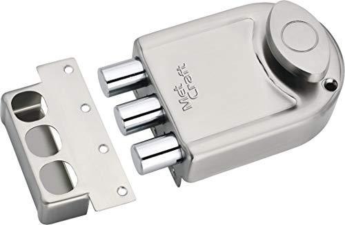 Met Craft Steel Ultra TriBolt One Side Dimple Key Main Door Lock(Silver)
