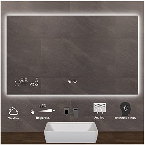 Keonjinn 40 x 24 Inch Smart Touch Switch LED...