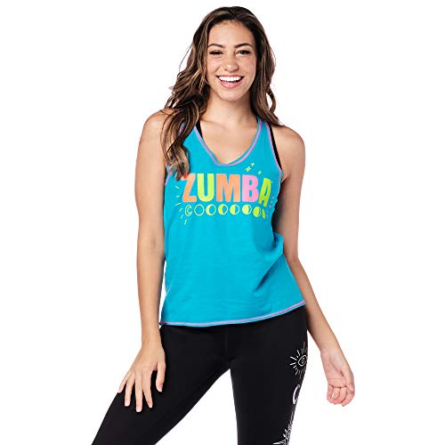 Zumba Graphic Print Dance Fitness Tank Tops Activewear Workout Tops for Women, Bangin