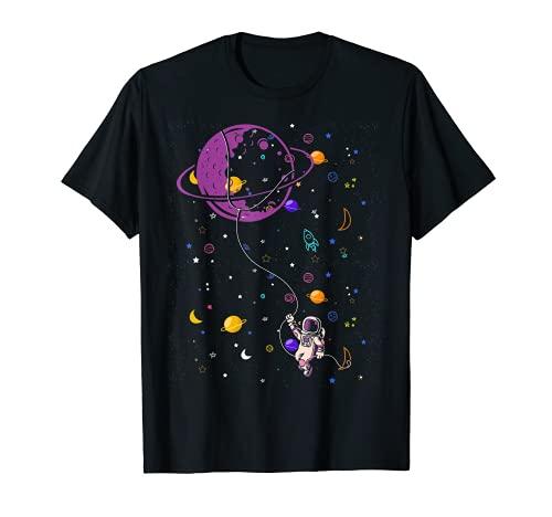 Planet Ballon Wissenschaft Kinder Geschenk Astronaut T-Shirt