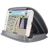 Soporte de teléfono celular para coche, soportes de GPS en vehículo para iPhone Samsung LG Nexus Motorola y sistema de navegación GPS y sistema de navegación GPS universal de 3-6.8 pulgadas - Gris