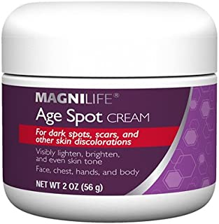 Age Spot Cream by Magnilife   Natural Botanical Formula for Youthful Skin Tone   2 oz