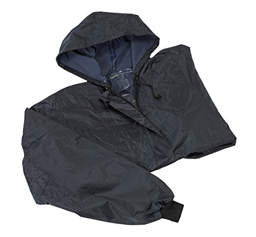Homecraft Wheelchair Mac with Sleeves, Waterproof Complete Protection, Elasticated for Snug Fit, Prevents Fabric From Getting Wet, Knitted Cuffs, Unlined, Long (Eligible for VAT relief in the UK)