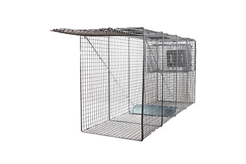 """Animal Trap (58""""x26""""x17"""") - Best Humane Animal Trap for Large Dogs, Foxes, Coyotes and Other Similar Sized Animals. Easy Trap Catch & Release cage with 1-Door by LifeSupplyUSA"""