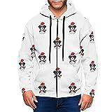 GZLFDTH-LJ Graphic Artoon Cute Saint Bernard Dog Mens Hooded Sweatshirts Zipper Casual Hoodie Jacket Black