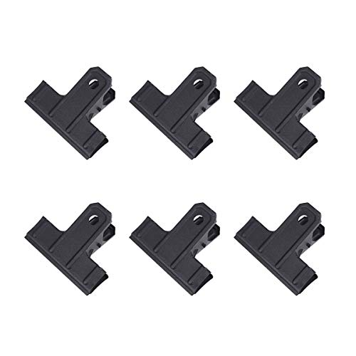 Toyvian 10 Stücke 88mm Metall bulldog clips starke binder clamp clips für papier datei bord essen tasche (schwarz)