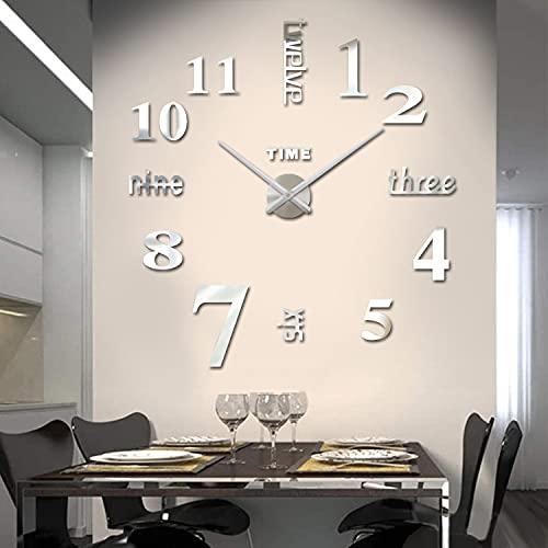Biramba Frameless DIY Wall Clock,3D…