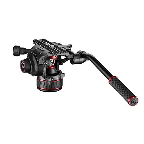 Manfrotto MVH61A2H Testa Video Fluida Nitrotech per DSLR, Mirrorless, Videocamere, Cine Camera, Sistema di Controbilanciamento Continuo 4-12 kg e di Frizionamento Fluido Variabile, Portata 12 kg