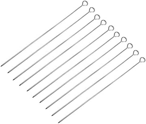 QYER Party Virginia Beach Mall Skewers Fashion 10 Steel Evenly Stainless Barbecue