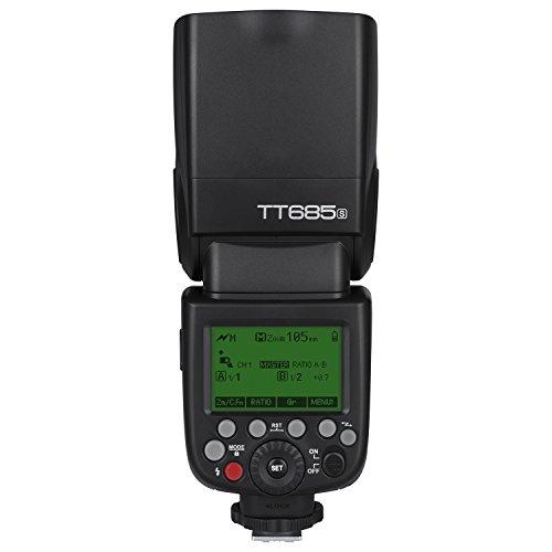 Godox TT685S TTL Flash de la cámara Flash Speedlite, 2.4G HSS 1/8000s TTL GN60 Flash electrónico Compatible con el Sistema de iluminación inalámbrico de Sony Compatible con TTL Flash automático