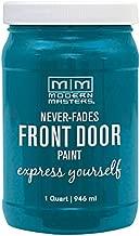 Modern Masters 296681 Front Door Paint, 1 Quart, Satin Tranquil