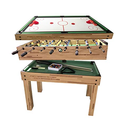 haxTON 5 in 1 Multi Games Table with Air Hockey Table Pool Table Football...
