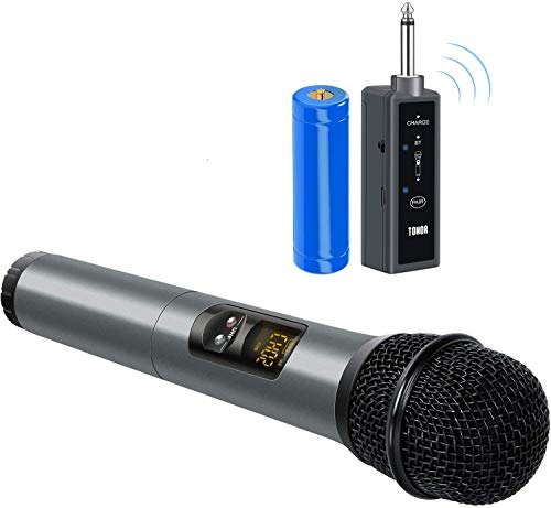 TONOR UHF Wireless Microphone Handheld Mic with Bluetooth Receiver 1/4 Output for...