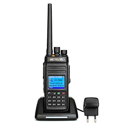 Retevis RT83 DMR Digitales Funkgerät Wasserdicht IP67 TDMA DCDM 1024 Kanäle Kompatibel mit Mototrbo DMR Amateurfunk mit Aufnahmefunktion (1 STK, Schwarz)