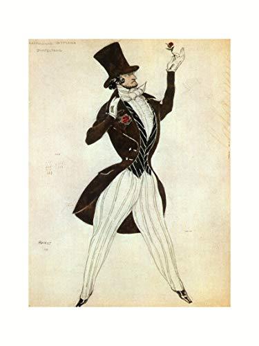 Leon Bakst - Florestan costume sketch for the ballet
