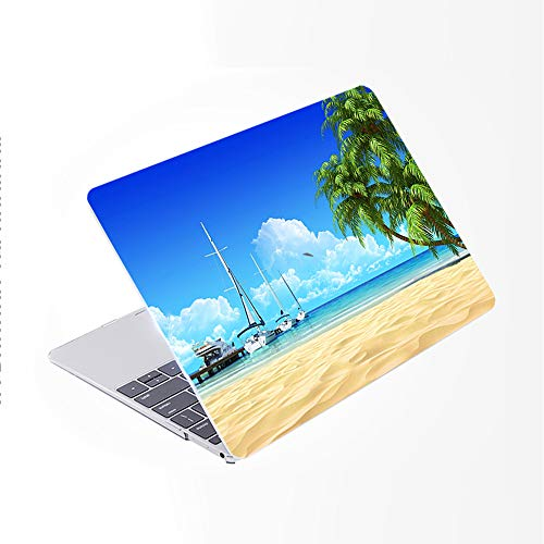 SDH for MacBook Pro 15 inch Case with CD-ROM 2010-2012 Released, Plastic Pattern Cover Hard Protective Shell & Keyboard Cover Only Compatible for Mac Pro 15 inch Model A1286, Beach Scenery 13