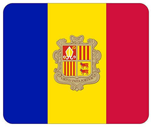 Mousepad bedruckt mit Flagge Fahne Andorra
