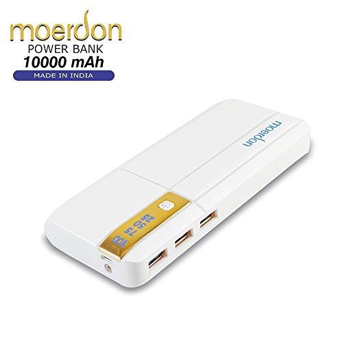 F-EYE Moerdon Power Bank 10000mAh with 3- USB Port, LED Display Light