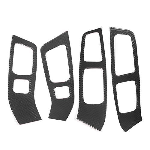 Ajuste del panel del interruptor de la ventana, Yctze panel de ajuste del panel del interruptor del elevador de la ventana Marco de fibra de carbono suave Reemplazo negro para S60 / V60