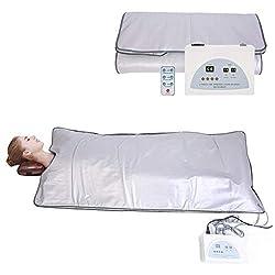Cocoarm Portable Steam Sauna Spa Folding Tent Body Shaper Weight Loss Sauna Slimming Blanket Detox Therapy Machine Infrared Sauna Blanket (06)