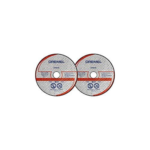Dremel DSM520 Multifunktions Mauerwerk-Trennscheibe, Zubehörsatz mit 2 Trennscheiben 77mm für die Kreissäge zum Sägen und Trennen von Holz und weichen Materialien