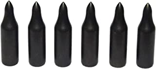 Huntingdoor Traditional 5/16'' Glue-On Target Arrow Tips Archery Field Points 100 Grain Black 6Pack