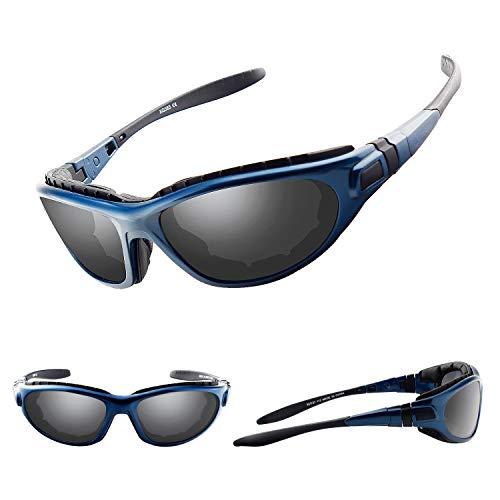 DUDUKING Occhiali da Sole Sportivi polarizzati Anti-UV Anti-Nebbia Anti-Vento Protezione Occhiali Sci per Uomini e Donne per Uomo e Donna per Motociclismo Sci