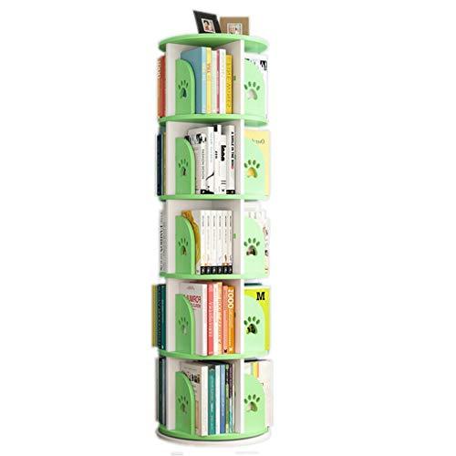 Librerie Girevole Bambini Regolabile in Altezza Assembla Il reggilibro Stimola l'interesse dei Bambini per la Lettura (Color : Green, Size : 50.5 * 159cm)