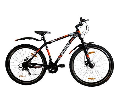Unisex Avery Freewheel Sia-mz Tubular Mountain Bike with 21 Shimano Gears (Black and Orange, 29 Inch)