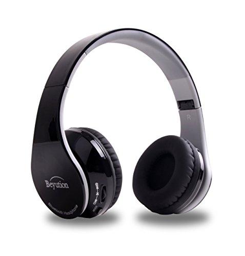 Beyution V4.1 Bluetooth Headphones Wireless Foldable Hi-fi Stereo Headphone for Smart Phones & Tablets - Black