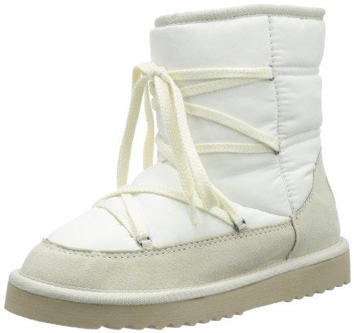 ESPRIT Uma Lace Bootie 113EK1W011, Damen Schlupfstiefel, Beige (natural white 105), EU 40
